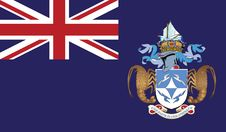 Free Flag Of Trsiton Da Cunha Vector Icon Illustration Royalty Free Stock Image - 82383226
