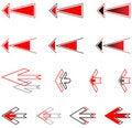 Free Arrows Set. Royalty Free Stock Image - 8242606