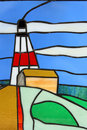 Free Stainglass Lighthouse Royalty Free Stock Photography - 8245237