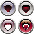 Free Set Heart Icons Stock Images - 8247614