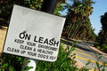 Free Dog On Leash Sign Stock Photography - 8248292