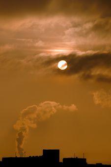 Sun And Smoke Stock Image