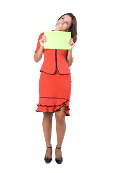 Free The Young Businesswoman At Office Behind Work Royalty Free Stock Photography - 8240237