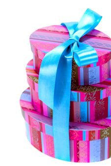 Free Pyramid Of Colorfull Gift Boxes Stock Photography - 8240342