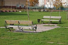 Free Two Benches Stock Photography - 8240382