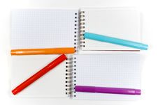 Free Four Opposite Notebook Stock Image - 8240551