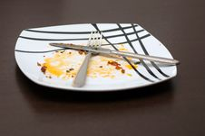 Free Dirty Plate Stock Photography - 8240602