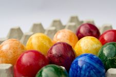 Free Dyed Easter Eggs Stock Photography - 8240812