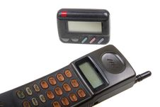 Wireless Pager And Cell-phone . Stock Photos