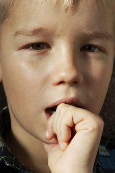 Free Thoughtful Boy Stock Photos - 8241463