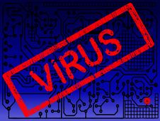 Free Circuit Board With Virus On It Stock Photography - 8241782