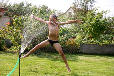 Free Jumping Boy Royalty Free Stock Photos - 8241898
