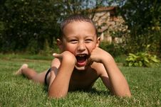 Free Boy In Grass Stock Photography - 8241992