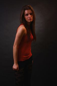 Young Woman In The Soft Light Stock Image