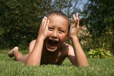 Free Boy In Green Grass Stock Photos - 8242143