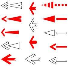 Free Arrows Set. Vector. Royalty Free Stock Photo - 8242445