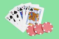Free Straight Flush Royalty Free Stock Image - 8242576