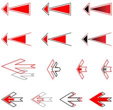 Free Arrows Set. Royalty Free Stock Image - 8242606