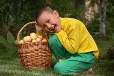 Free Boy With Apples Royalty Free Stock Photo - 8242645