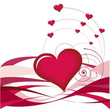 Red Heart And Svirl Stock Images