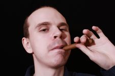 Free Man With Cigar Stock Photos - 8242973