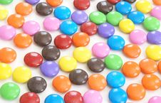 Coated Candy Background Royalty Free Stock Images