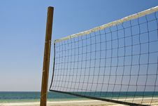 Free Volleyball Net On Beach Royalty Free Stock Photos - 8243068