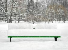 Free Bench In Winter Stock Photo - 8243740