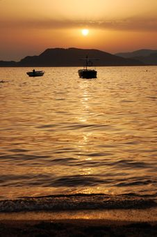 Sunset In Montenegro Royalty Free Stock Images