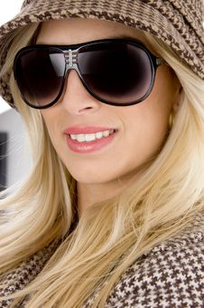 Free Front View Of Smiling Model Wearing Sunglasses Stock Photo - 8244090