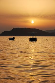 Sunset In Montenegro Stock Images