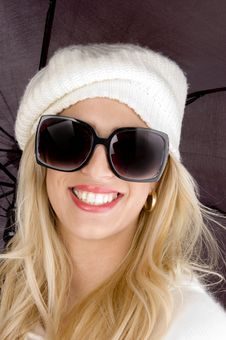 Free Front View Of Cheerful Young Woman Stock Images - 8244164