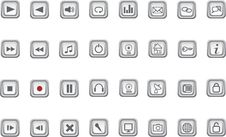 Free Set Of Media And Web Icons. Royalty Free Stock Images - 8244249
