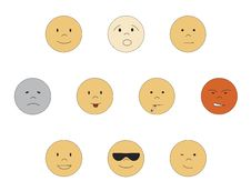 Free Set Of Smileys Stock Images - 8244344