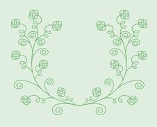 Free Green Floral Background Stock Photography - 8244582