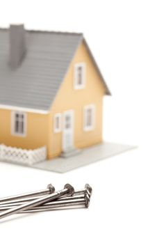 House And Nails Abstract Royalty Free Stock Image