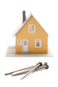 House And Nails Abstract Royalty Free Stock Images