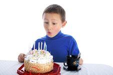Free Boy With Cake Royalty Free Stock Photo - 8244805