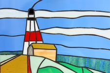Free Stainglass Lighthouse Stock Photos - 8244983