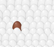 Free Chocolate Egg In Chicken Eggs Royalty Free Stock Images - 8244999