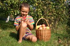 Free Boy With Apples Stock Photo - 8245730