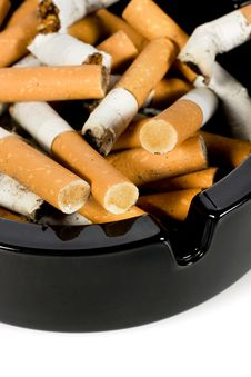 Free Ashtray Full Of Cigarettes Royalty Free Stock Image - 8246356