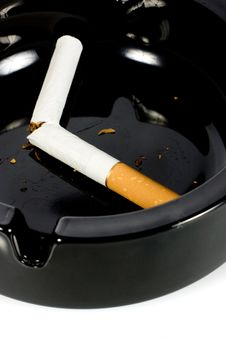 Free Cigarette In Ashtray Stock Image - 8246371