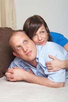 Free Couple On Sofa Stock Photos - 8246753