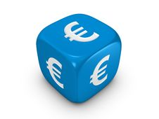 Free Blue Dice With Euro Sign Stock Photos - 8247123
