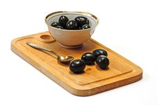 Olive In White Cup Royalty Free Stock Photo