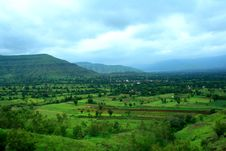 Free Dramatic Satara Village Landscape Stock Images - 8248344