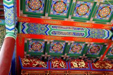 Free Pengzhou, China: Ceiling At Long Xing Temple Stock Photos - 8249233