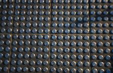 Free Tiles With Steel Studs Royalty Free Stock Photography - 8249487