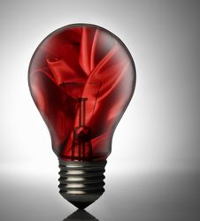 Free Bulb With Silk Royalty Free Stock Photos - 8249548
